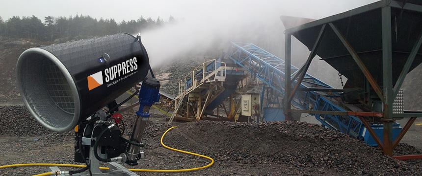 canhões de névoa supressores de poeira suppress ajudam na sustentabilidade